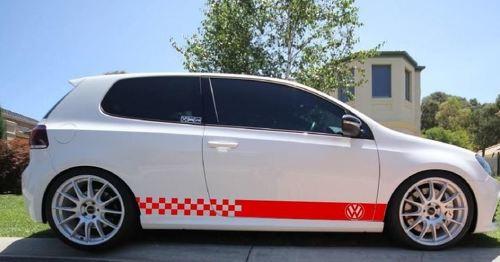Aufkleber Aufkleber Streifen Kit Für Volkswagen Golf Mk4 Mk5 Mk6 Mk7 Emblem Abzeichen Körper