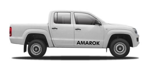 2X volkswagen AMAROK side vinyl body decal sticker emblem logo