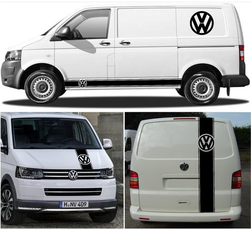 6X volkswagen T4 T5 T6 kit vinyl body decal sticker graphics high quality