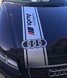 Audi A3 A4 A5 A6 A8 S3 S4 S5 S6 RS4 Q3 Q5 Q7 TT S-Line R8 Quattro HOOD DECAL
