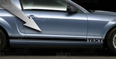 2005-2009 Ford Mustang GT Custom Side Rocker Decals  6