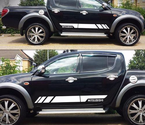 Decal Graphic Side Stripe Kit For Mitsubishi L200 Triton 2005 2017 Molding Guard