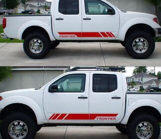 Decal Sticker Graphic Side Stripe Kit For Nissan Frontier Navara D40 D22 Offroad