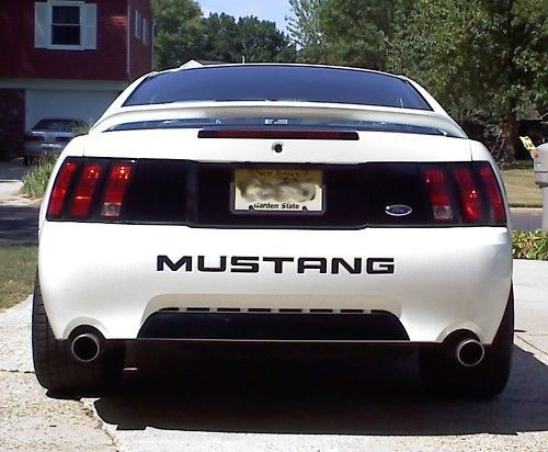 99-04 FORD MUSTANG REAR TRUNK LID PANEL BLACKOUT DECAL VINYL GRAPHICS BLACK OUT