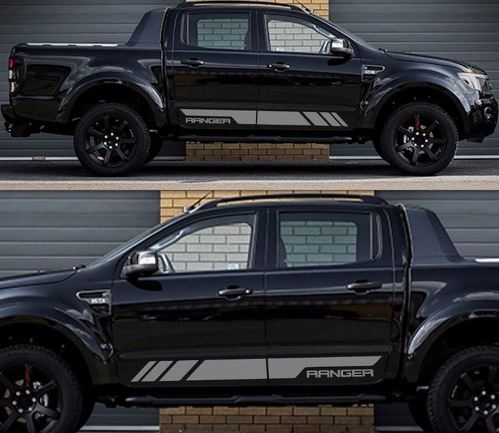 Decal Sticker Graphic Side Stripe kit For Ford Ranger T6 Wildtrak Grill Door XLT