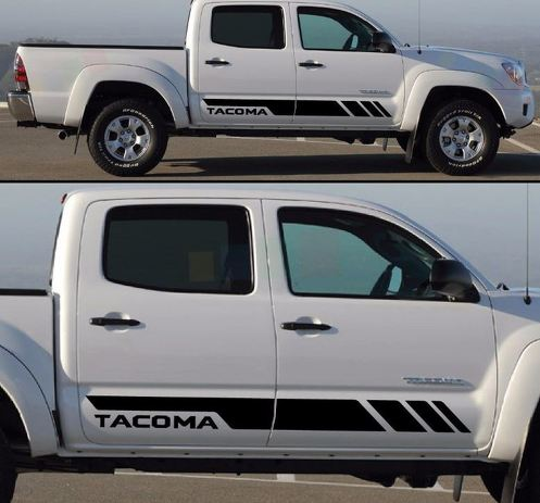 Decal sticker stripes kit For TOYOTA TACOMA side steps gear 2017 2016 2015 2014
