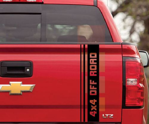 4x4 TRUCK BED SIDE DECAL FOR 1998 - 2007 CHEVY SILVERADO GMC SIERRA STICKER SET