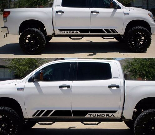 Decal Sticker Side Stripe Kit For Toyota Tundra 2007 2009 2010 2014 2016 Offroad