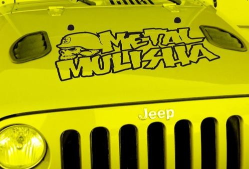 Jeep Wrangler Large Metal Mulisha Vinyl Hood Decal TJ LJ JK JKU 13  X 36