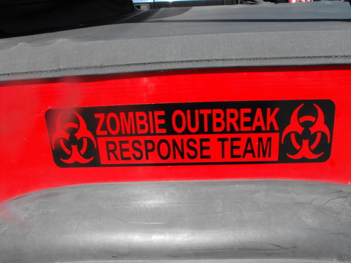 Jeep Rubicon Wrangler Zombie Outbreak Response Team Wrangler Decal#10