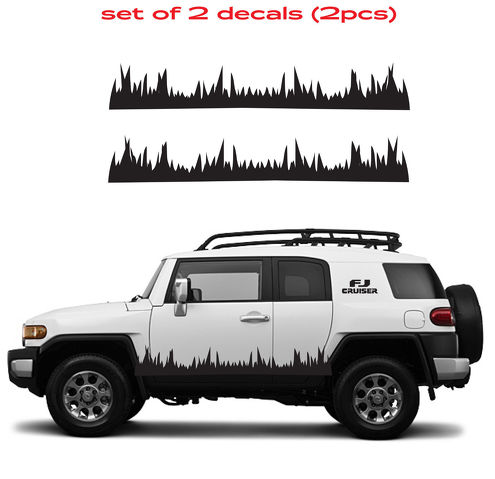 TOYOTA FJ CRUISER Grass Mountain 4 Runner Decal Vinyl Side Door Graphics 8