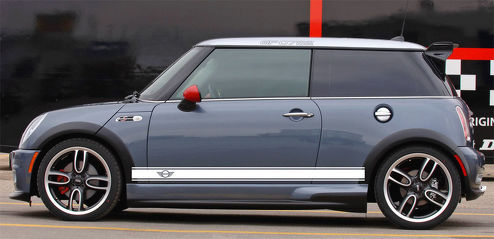 WINGS Mini Cooper S JCW Clubman Angled Side Door Racing Stripes Graphics