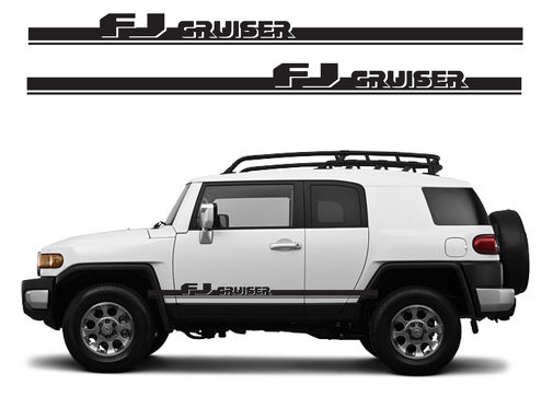 FJ CRUISER Toyota FJ Decal Vinyl Angled Side Door Racing Stripe Graphics  5