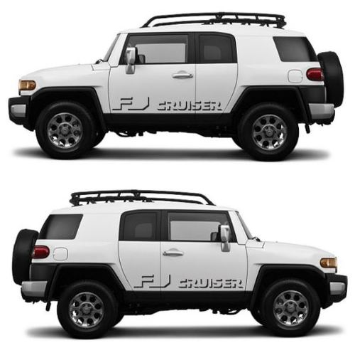 FJ CRUISER Shadow Toyota Decal Vinyl Side Door Graphics  3