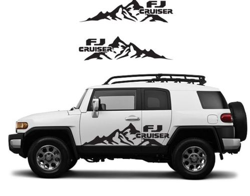 TOYOTA FJ CRUISER Mountain Decal Vinyl Side Door Graphics  15