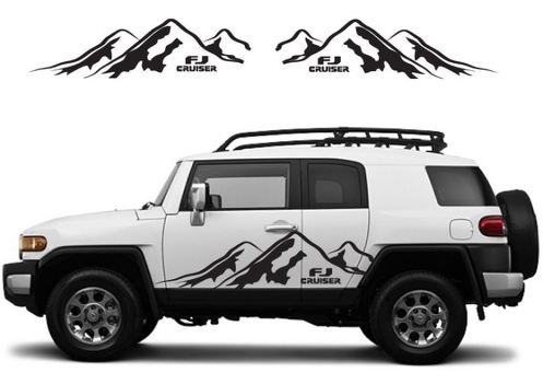 TOYOTA FJ CRUISER Mountain Decal Vinyl Side Door Graphics  16
