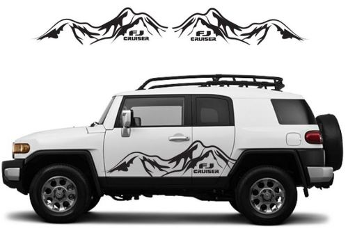 TOYOTA FJ CRUISER Mountain Decal Vinyl Side Door Graphics  17