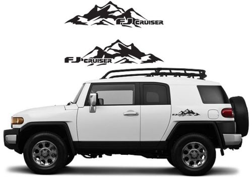 TOYOTA FJ CRUISER Mountain Decal Vinyl Side Door Graphics  12