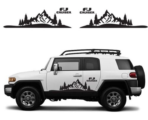 TOYOTA FJ CRUISER Mountain Decal Vinyl Side Door Graphics  9