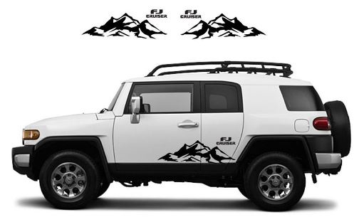 TOYOTA FJ CRUISER Mountain Decal Vinyl Side Door Graphics  19