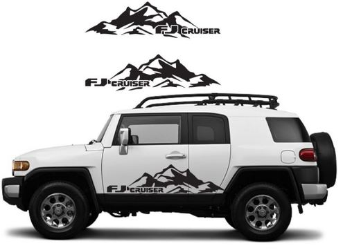TOYOTA FJ CRUISER Mountain Decal Vinyl Side Door Graphics  13