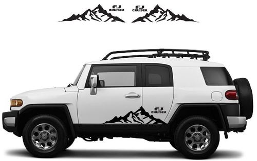 TOYOTA FJ CRUISER Mountain Decal Vinyl Side Door Graphics  18