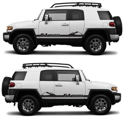 FJ CRUISER Toyota FJ Decal Vinyl Angled Side Door Racing Stripe Graphics  7