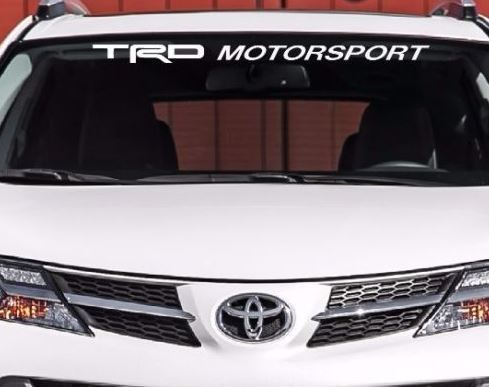 TRD MOTORSPORT WINDSHIELD DECAL