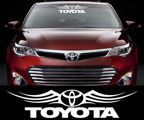 Toyota Racing Decal Sticker Car Window Windshield cars and motorcycles