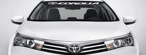 COROLLA Windshield 36  Banner Decal Vinyl Sticker TOYOTA TRD