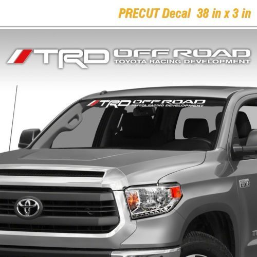 Toyota TRD Off Road Racing Tacoma Tundra Vinyl Decal Sticker Truck Windshield 1
