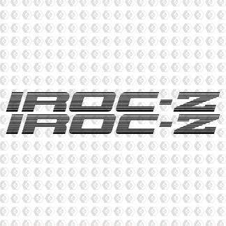 IROC-Z Z28 ZWEI Türabziehbilder AUFKLEBER Camaro SET