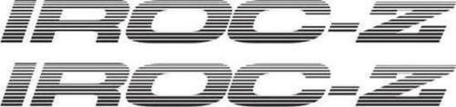 IROC-Z Z28 TWO Door Decals STICKERS Camaro SET