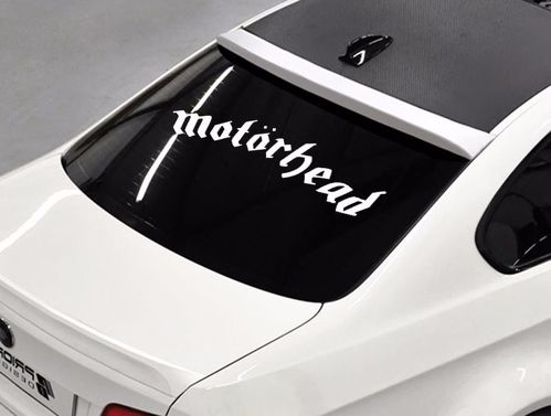 Motorhead band Rock metal music rear window hood body logo Stickers Decals