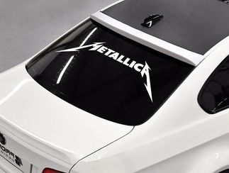 MetallicA band Rock metal music rear window hood body logo Stickers Decals