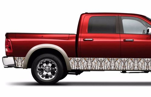 Camouflage Camo Wrap rocker panel winter realtree Vinyl Decal fits to RAM F150