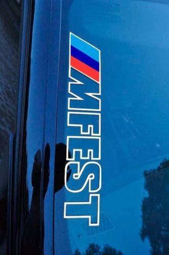 Bimmerfest MFEST bimmer fest Vinyl Stickers Decals fits to e92 e36 e46 BMW