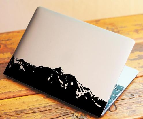 Mountains Laptop Vinyl Decal Sticker fits to 13  inch MacBook Pro or customize