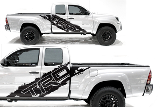 Toyota Tacoma 2005-2018 Custom Half Side Decal Truck Wrap - TRD SIDE