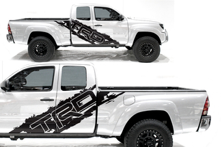 Toyota Tacoma 2005-2020 Custom Half Side Decal Truck Wrap - TRD SIDE