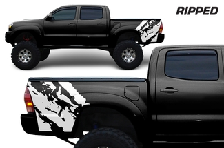 Toyota Tacoma 2005-2018 Custom Quarter Side Decal Truck Wrap - RIPPED