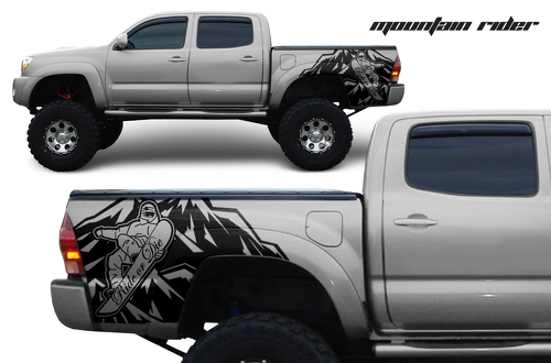 Vinyl Rear Decal Mountain Rider Wrap Kit for Toyota Tacoma 2005-2018 any colors