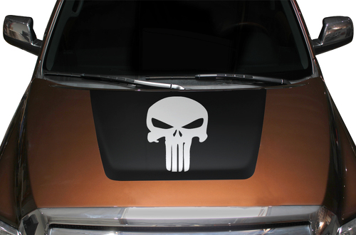 Toyota Tundra Punisher Hood Vinyl Decal 2014-2017