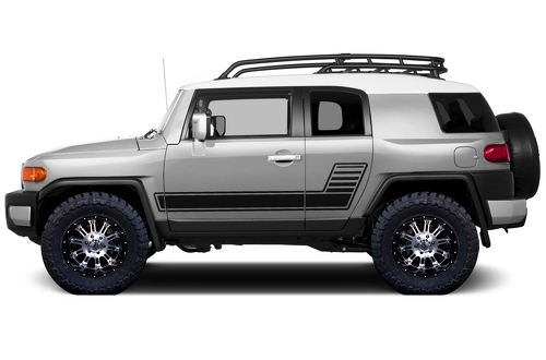 Toyota FJ Cruiser 2007-2014 Custom Side Stripe Decal Truck Wrap - GRADIENT