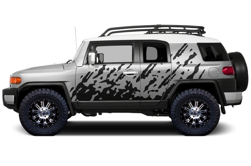 Toyota FJ Cruiser 2007-2014 MUD SPLASH Side Decal Truck Wrap BURST