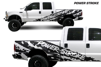 Ford F-250Truck 1999-2006 POWERSTROKE Side Custom Vinyl Decal