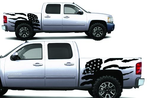 Chevy Silverado Truck 2008-2013 1500-2500-3500 CREW CAB Vinyl - PATRIOT