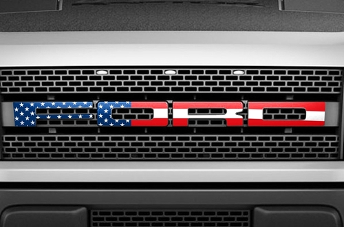 Ford Raptor Grille Insert Decals (2010-2014) american flag design