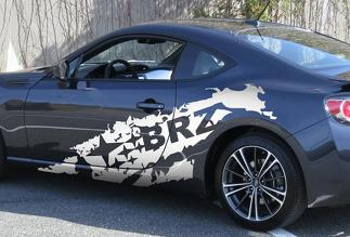 Subaru BRZ Matte - Gloss Subaru Torn Vinyl Graphics Decal 2013-2014