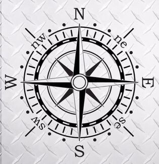 Compass 40 x 40  hood vinyl decal sticker fits to Jeep WRANGLER Rubicon